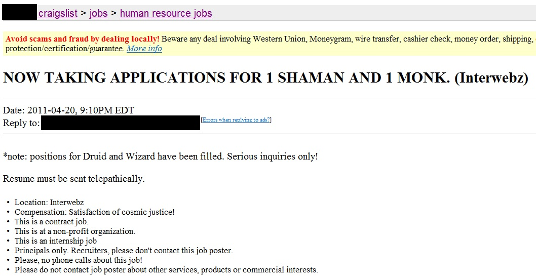 craigslist resume scams beware of resume scams when looking for