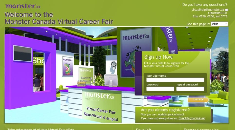 monster virtual job fair 2013